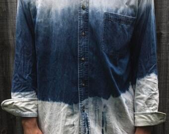 Double Ombre 3 Panel Men's Button-Down Shirt