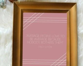 Wall Print // Average People
