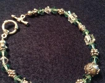 Bracelet with Swarovski Crystal and Bali Silver