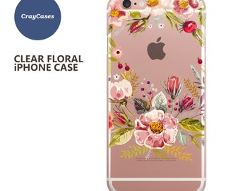 Floral iPhone 7 Case, Floral iPhone 6s Case, Floral iPhone 6 Plus Case, Floral iPhone 6 Case, Floral iPhone 6s Plus Case (Shipped From UK)
