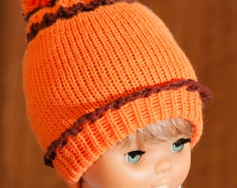 Hand Knitted Pumpkin Girls' Hat