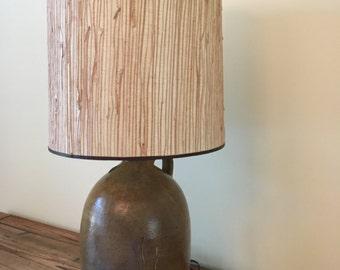 Handpainted Pottery Lamp