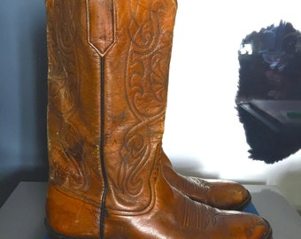 Rios of Mercedes Leather Cowboy Boots