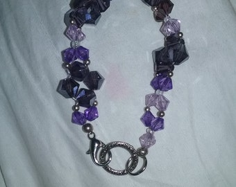 swavorski crystal purple bracelet