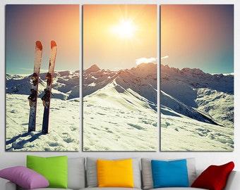 Ski canvas art Ski Photo Winter Sport Ski Wall Art Winter Wall Art Ski Poster Ski Print Winter Canvas Print Winter Photography Winter Canvas