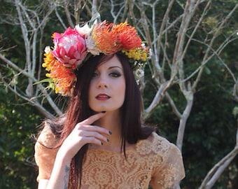 Flowercrown Fascinator Headpiece Australian Flowers