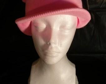 Powder Pink Visor Knit Beanie