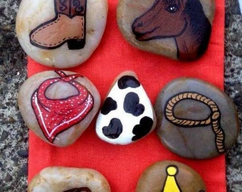 Cowgirl / Cowboy Themed Story Stones