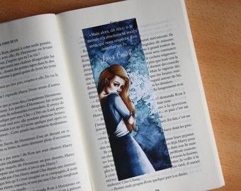 Bookmark Art drawing print, Alice in wonderland illustration bookmark Alice in the Wonderland