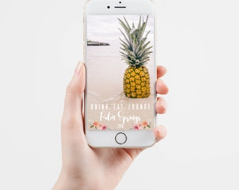 GIRLS WEEKEND or BACHELORETTE Party Snapchat Geofilter Drink, Eat, Lounge