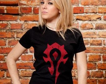 For The Horde - Women's World Of Warcraft Horde Emblem T-Shirt