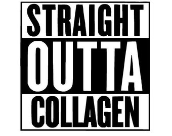 "Straight Outta Collagen EDS 4"" Vinyl Sticker Decal - ehlers-danlos syndrome - eds - zebra - spoonie - chronic illness decal - spoon theory"