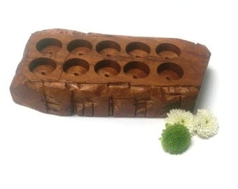 Wooden Essential Oil Tray - Mahogany Mountain - Natural Color Stain