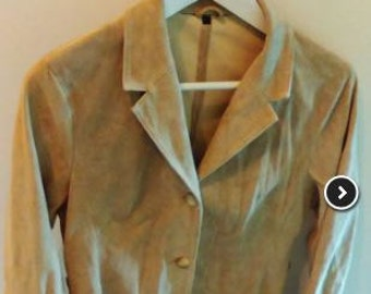 Camel T38/40 or M leather jacket