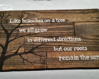 Tree Branches Family Sign