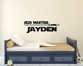 Personalized Boy Name Wall Decal Star Wars Room Decor   Star Wars Vinyl  Wall Decals Stickers