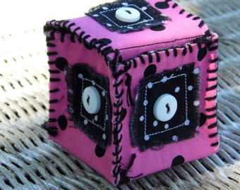 MINI FABRIC BOX - Pink, Black & White