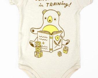 Librarian Baby Onesie - Book Worm Baby Bodysuit - Organic Cotton Baby Gift