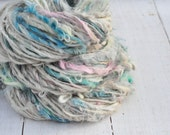 Handspun Curly Yarn - Pretty Lock Spun - Mermaid's Treasure - Suri Alpaca - 72 Yards