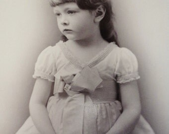 She Held A Pretty Posey- Cabinet Card From Edsall Studio, New York City