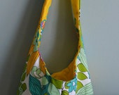 Retro Flowers Hobo Bag