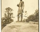 Reserved for B- Gettysburg military park photo sailor boy Warren civil war round top encampment N. G. P.