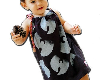 Wu Tang Dress - Modern Dress then a Swing Top as your Child Grows - Wu Tang Onesie - for Baby Toddler Big Kid - handmade by joeyandaleethea