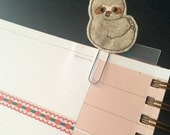 Sloth planner clip - sloth bookmark - planner accessories - sloth feltie - sloth felt paperclip - planner paperclip