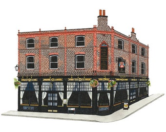 The Rose & Crown, Greenwich - Postcard