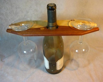 Wine and Glass Displayer of Reclaimed Wood