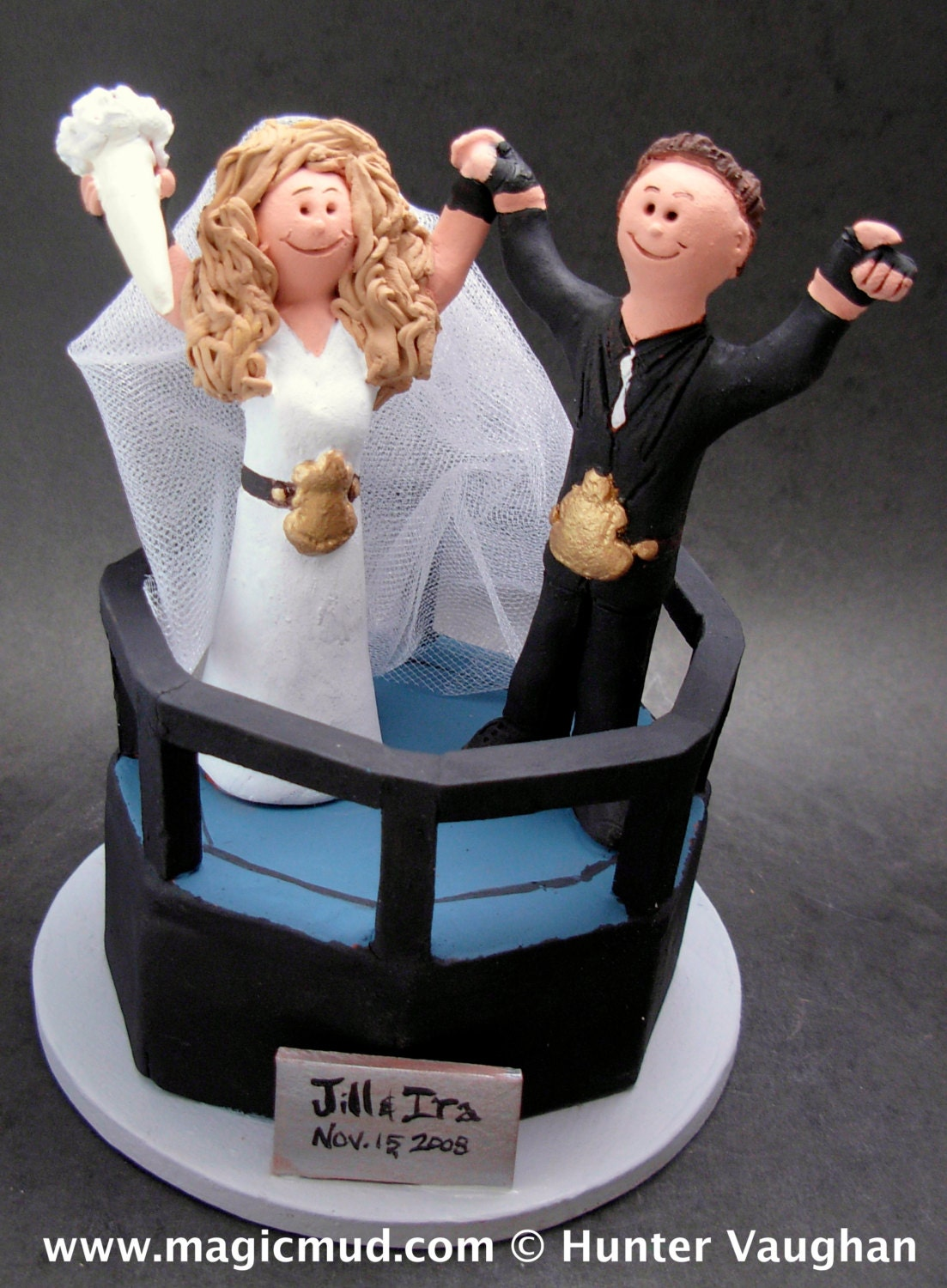 wwe cake toppers ring wedding cake topper custom made 1503