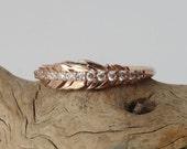 Diamond Feather Ring - Slim