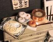 Dolls House Miniature Making Doughnuts Set