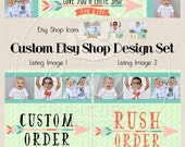 Custom Etsy Shop Banner Set, Banner and Icon, Custom Shop Banner, Shop Icons, Etsy Store Graphics, Custom Graphic Design