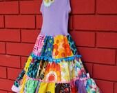 Patchwork Medley Singlet dress size 4-5