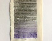 RESERVED FOR L + K//Blackout Poetry (victory by birthright) Original Artwork & Poem