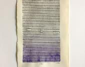RESERVED FOR L + K//Blackout Poetry (victory by birthright) Original Artwork & Poem