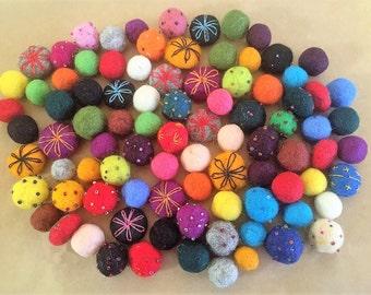 Moroccan Felt Beads (10 beads)