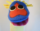 Puppet critter named Walden  made of 100% recycled wool sweaters