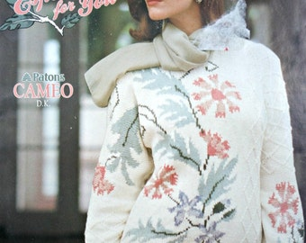 Sweater Knitting Patterns Women Especially for You Beehive Patons 524 DK Weight Yarn Cardigan Vintage Paper Original NOT a PDF