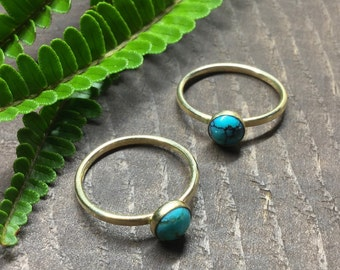 Turquoise Ring in 14k Yellow Gold Fill