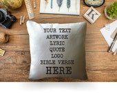 Custom personalized custom text decorative throw pillow cover