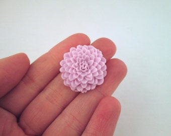 pale pinky lavender 25mm mum flower cabochons, cute chrysanthemum cabs, E251