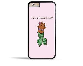 Mermaid Cat Phone Case Cute MerCat iPhone 6s Case Merkitty Samsung Galaxy S7 Case PurrMaid iPhone SE Case