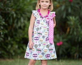 Girls Hot Air Balloon Dress- Girls Dress- Girls Party Dress- Cute Clothes for Girls- Girls Birthday Dress- Cute Girls Dress- Dress for Girls