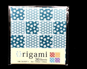 Japanese  Paper 4 Patterns 36 Sheets 15 x 15 cm Flower Paper - Origami Paper