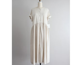 oversized linen dress | baggy linen dress | vintage 90s linen dress