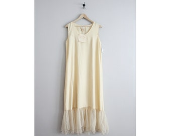 FINAL SALE! / oversized slip dress / tulle dress