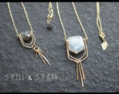 ON HOLD FOR Z 10 % off Free Ship Faceted Labradorite Necklace - Sterling Silver or Gold Filled