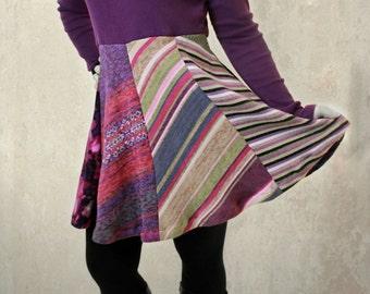 HandCandy upcycled sweater dress purple